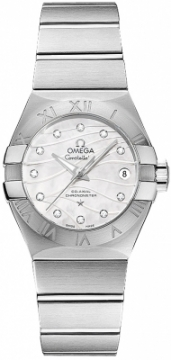 Buy this new Omega Constellation Co-Axial Automatic 27mm 123.10.27.20.55.002 ladies watch for the discount price of £4,770.00. UK Retailer.
