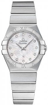 Buy this new Omega Constellation Brushed 27mm 123.10.27.60.55.004 ladies watch for the discount price of £2,210.00. UK Retailer.