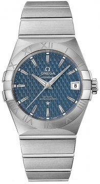 Buy this new Omega Constellation Co-Axial Automatic 38mm 123.10.38.21.03.001 mens watch for the discount price of £3,600.00. UK Retailer.