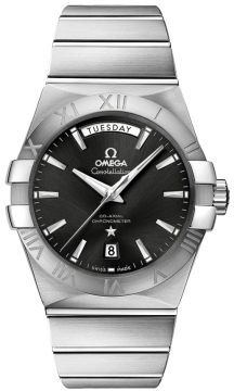 Omega Constellation Co-Axial Automatic Day Date 38mm Mens watch, model number - 123.10.38.22.01.001, discount price of £4,450.00 from The Watch Source