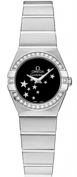 Omega Constellation Star 24mm Ladies watch, model number - 123.15.24.60.01.001, discount price of £2,889.00 from The Watch Source