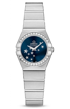 Omega Constellation Star 24mm Ladies watch, model number - 123.15.24.60.03.001, discount price of £2,889.00 from The Watch Source
