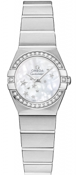 Buy this new Omega Constellation Star 24mm 123.15.24.60.05.003 ladies watch for the discount price of £3,420.00. UK Retailer.
