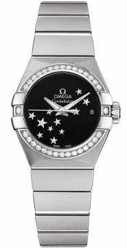 Buy this new Omega Constellation Co-Axial Automatic Star 27mm 123.15.27.20.01.001 ladies watch for the discount price of £5,184.00. UK Retailer.