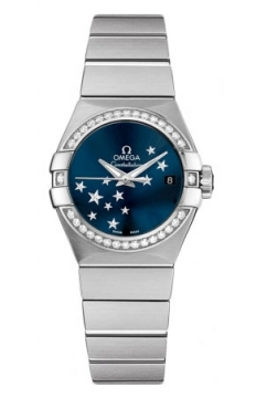 Buy this new Omega Constellation Co-Axial Automatic Star 27mm 123.15.27.20.03.001 ladies watch for the discount price of £5,184.00. UK Retailer.