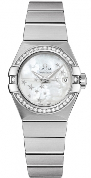 Buy this new Omega Constellation Co-Axial Automatic Star 27mm 123.15.27.20.05.001 ladies watch for the discount price of £5,544.00. UK Retailer.