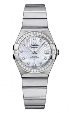 Buy this new Omega Constellation Co-Axial Automatic 27mm 123.15.27.20.55.001 ladies watch for the discount price of £5,976.00. UK Retailer.