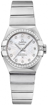 Buy this new Omega Constellation Co-Axial Automatic 27mm 123.15.27.20.55.003 ladies watch for the discount price of £6,858.00. UK Retailer.