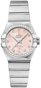 Buy this new Omega Constellation Co-Axial Automatic 27mm 123.15.27.20.57.002 ladies watch for the discount price of £6,858.00. UK Retailer.