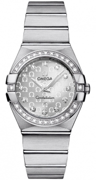Buy this new Omega Constellation Brushed 27mm 123.15.27.60.52.001 ladies watch for the discount price of £4,408.00. UK Retailer.