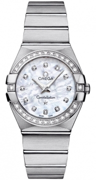 Buy this new Omega Constellation Brushed 27mm 123.15.27.60.55.001 ladies watch for the discount price of £4,896.00. UK Retailer.