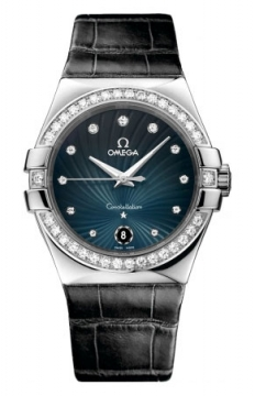Omega Constellation Quartz 35mm Ladies watch, model number - 123.18.35.60.56.001, discount price of £5,550.00 from The Watch Source
