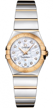 Buy this new Omega Constellation Polished 24mm 123.20.24.60.55.004 ladies watch for the discount price of £2,952.00. UK Retailer.