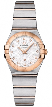 Buy this new Omega Constellation Brushed 24mm 123.20.24.60.55.007 ladies watch for the discount price of £3,168.00. UK Retailer.
