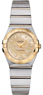 Buy this new Omega Constellation Brushed 24mm 123.20.24.60.57.001 ladies watch for the discount price of £3,654.00. UK Retailer.