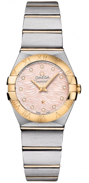 Buy this new Omega Constellation Brushed 24mm 123.20.24.60.57.004 ladies watch for the discount price of £3,685.00. UK Retailer.