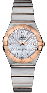 Omega Constellation Co-Axial Automatic 27mm Ladies watch, model number - 123.20.27.20.55.001, discount price of £4,640.00 from The Watch Source