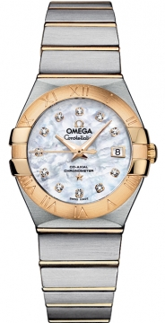 Buy this new Omega Constellation Co-Axial Automatic 27mm 123.20.27.20.55.003 ladies watch for the discount price of £5,607.00. UK Retailer.