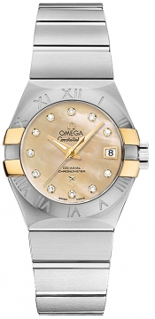 Buy this new Omega Constellation Co-Axial Automatic 27mm 123.20.27.20.57.003 ladies watch for the discount price of £4,320.00. UK Retailer.