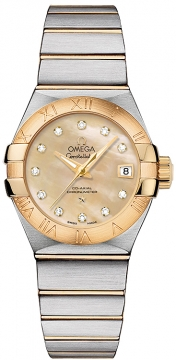 Buy this new Omega Constellation Co-Axial Automatic 27mm 123.20.27.20.57.002 ladies watch for the discount price of £4,896.00. UK Retailer.