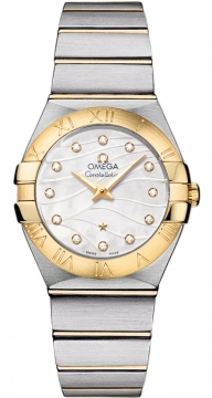 Buy this new Omega Constellation Brushed 27mm 123.20.27.60.55.005 ladies watch for the discount price of £3,477.00. UK Retailer.