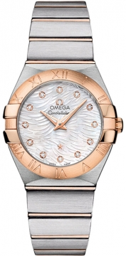 Buy this new Omega Constellation Brushed 27mm 123.20.27.60.55.007 ladies watch for the discount price of £3,384.00. UK Retailer.