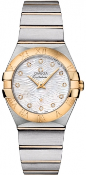 Buy this new Omega Constellation Brushed 27mm 123.20.27.60.55.008 ladies watch for the discount price of £3,384.00. UK Retailer.