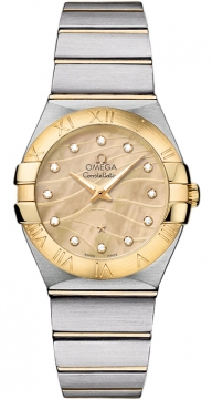 Buy this new Omega Constellation Brushed 27mm 123.20.27.60.57.001 ladies watch for the discount price of £3,456.00. UK Retailer.