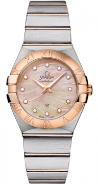 Buy this new Omega Constellation Brushed 27mm 123.20.27.60.57.002 ladies watch for the discount price of £3,545.00. UK Retailer.
