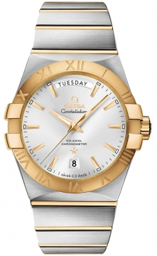 Buy this new Omega Constellation Co-Axial Automatic Day Date 38mm 123.20.38.22.02.002 mens watch for the discount price of £7,344.00. UK Retailer.