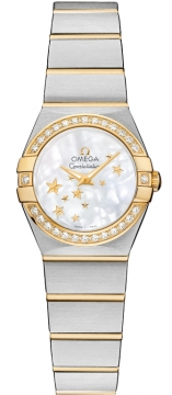 Omega Constellation Star 24mm Ladies watch, model number - 123.25.24.60.05.001, discount price of £4,248.00 from The Watch Source