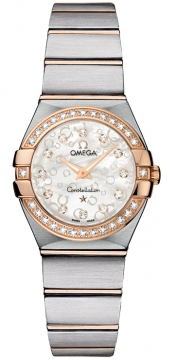 Buy this new Omega Constellation Brushed 24mm 123.25.24.60.55.009 ladies watch for the discount price of £5,240.00. UK Retailer.