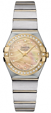 Buy this new Omega Constellation Brushed 24mm 123.25.24.60.57.001 ladies watch for the discount price of £4,824.00. UK Retailer.