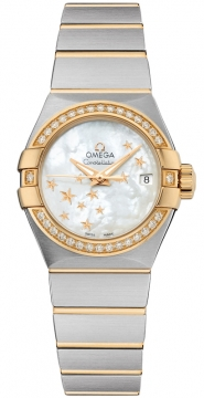 Buy this new Omega Constellation Co-Axial Automatic Star 27mm 123.25.27.20.05.001 ladies watch for the discount price of £6,408.00. UK Retailer.