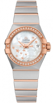Buy this new Omega Constellation Co-Axial Automatic Star 27mm 123.25.27.20.05.002 ladies watch for the discount price of £6,408.00. UK Retailer.