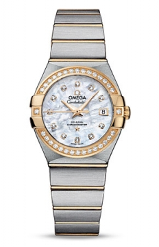 Buy this new Omega Constellation Co-Axial Automatic 27mm 123.25.27.20.55.003 ladies watch for the discount price of £6,732.00. UK Retailer.