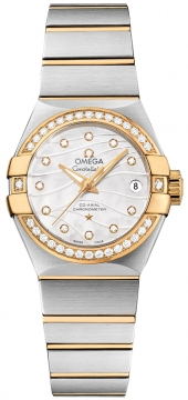 Buy this new Omega Constellation Co-Axial Automatic 27mm 123.25.27.20.55.004 ladies watch for the discount price of £8,066.00. UK Retailer.