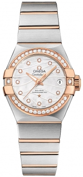 Buy this new Omega Constellation Co-Axial Automatic 27mm 123.25.27.20.55.005 ladies watch for the discount price of £6,984.00. UK Retailer.