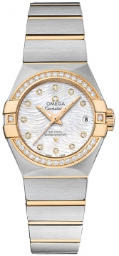 Buy this new Omega Constellation Co-Axial Automatic 27mm 123.25.27.20.55.007 ladies watch for the discount price of £8,118.00. UK Retailer.