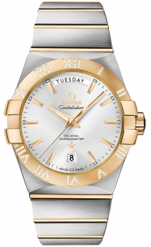 Omega Constellation Co-Axial Automatic Day Date 38mm Mens watch, model number - 123.25.38.22.02.002, discount price of £10,545.00 from The Watch Source