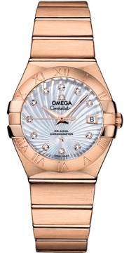 Omega Constellation Co-Axial Automatic 27mm Ladies watch, model number - 123.50.27.20.55.001, discount price of £14,148.00 from The Watch Source