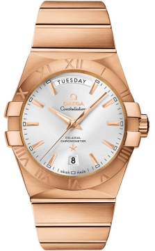 Omega Constellation Co-Axial Automatic Day Date 38mm Mens watch, model number - 123.50.38.22.02.001, discount price of £22,176.00 from The Watch Source