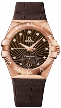 Buy this new Omega Constellation Quartz 35mm 123.53.35.60.63.001 ladies watch for the discount price of £8,856.00. UK Retailer.
