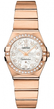 Buy this new Omega Constellation Brushed 24mm 123.55.24.60.55.015 ladies watch for the discount price of £11,880.00. UK Retailer.