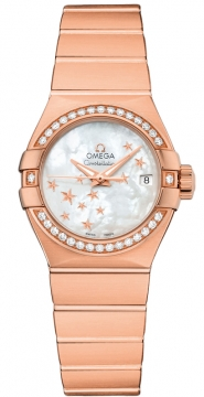 Omega Constellation Co-Axial Automatic Star 27mm Ladies watch, model number - 123.55.27.20.05.003, discount price of £14,276.00 from The Watch Source