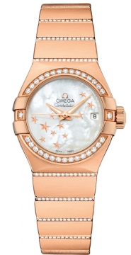 Buy this new Omega Constellation Co-Axial Automatic Star 27mm 123.55.27.20.05.004 ladies watch for the discount price of £20,304.00. UK Retailer.