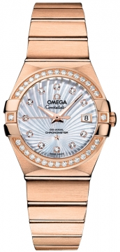 Buy this new Omega Constellation Co-Axial Automatic 27mm 123.55.27.20.55.001 ladies watch for the discount price of £16,020.00. UK Retailer.