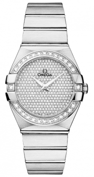 Buy this new Omega Constellation Brushed 27mm 123.55.27.60.99.001 ladies watch for the discount price of £24,624.00. UK Retailer.