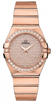 Buy this new Omega Constellation Brushed 27mm 123.55.27.60.99.004 ladies watch for the discount price of £22,392.00. UK Retailer.