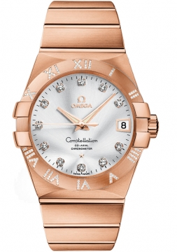 Buy this new Omega Constellation Co-Axial Automatic 38mm 123.55.38.21.52.007 mens watch for the discount price of £26,856.00. UK Retailer.